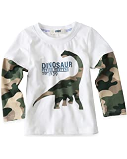 d4c3d82713f5 Amazon.com: Boys Cotton Long Sleeve T-Shirts T Rex Dinosaur Shirt ...