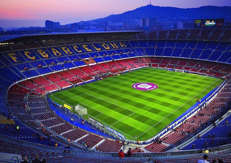 Fc Barcelona Camp Nou Football Stadium Spain Catalonia Poster A0 1189x841mm Amazon Co Uk Kitchen Home