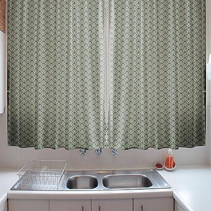 Amazon.com: oFloral Kitchen Curtains Geometric Rhombuses ...