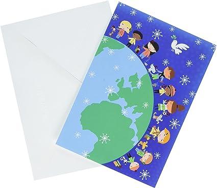 Hallmark – Tarjeta de Navidad en caja tarjetas urs1082 niños del ...