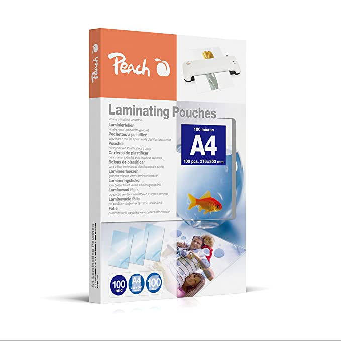 Amazon.com : Peach PP500-02 A4 Laminating Pouches : Office ...