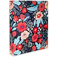 Cute Decorative Hardcover 3 Ring Binder for Letter Size Paper, 1 Inch Round Rings, Colorful Binder Organizer for School…