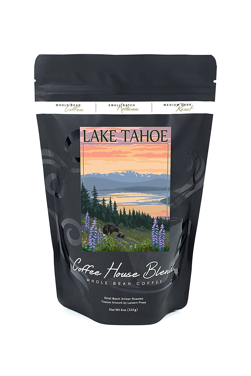Lake Tahoe – Bear Family and Spring Flowers B074S5H4RL 8oz Coffee Bag8oz Coffee Bag