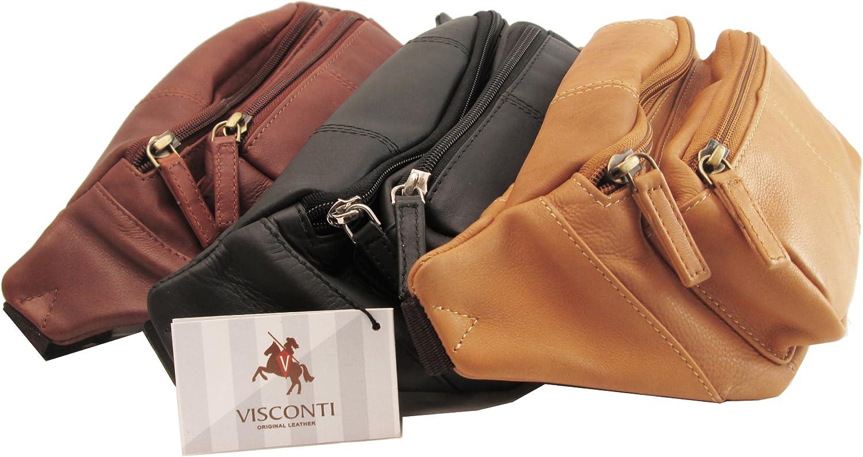 Visconti Cuir Unisex Sac pour la taille//de ceinture// banane// Polo 720 Pouch Bumbag
