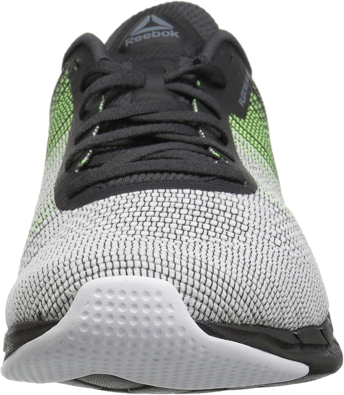 Reebok Fast Flexweave Mesh Running Shoe Alloy Electric Flash Coal White