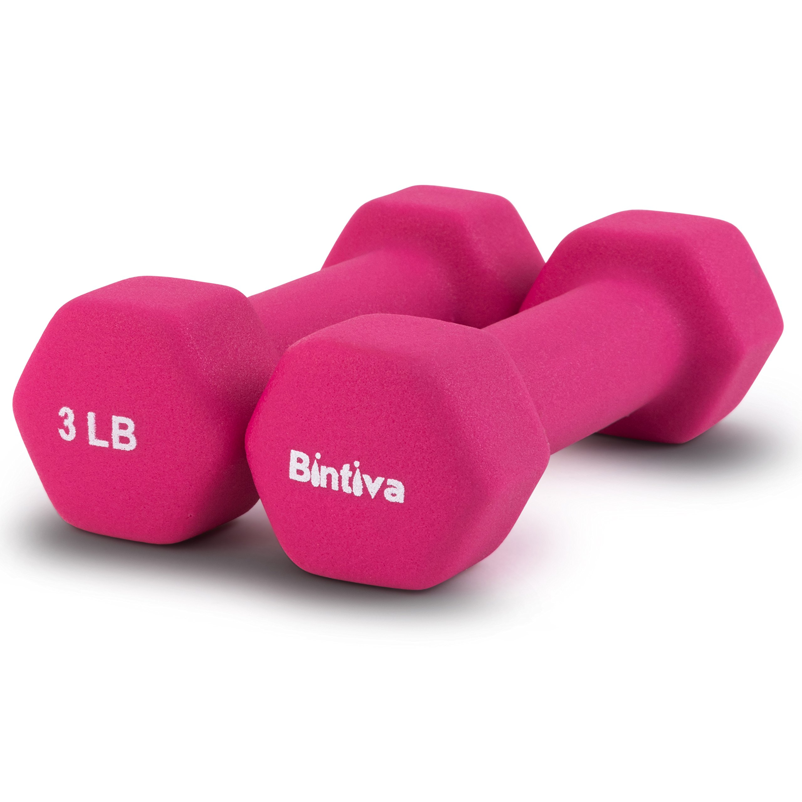 bintiva Professional Grade, Non Slip Grip, Neoprene Coated Dumbbells - 1 Pair
