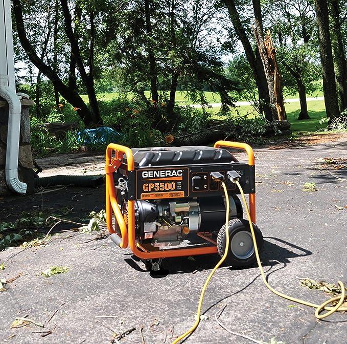 amazon com : generac 5939 gp5500 5500 running watts/6875 starting watts gas  powered portable generator : garden & outdoor