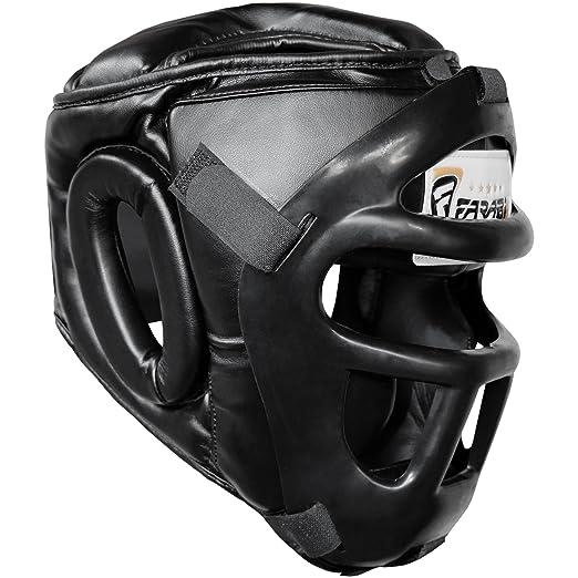 17 opinioni per Farabi Sports Boxing HeadGuard, Helmet Head prototector Gear Real Leather