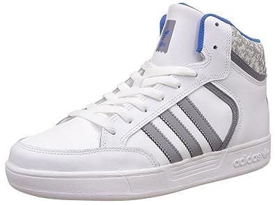 adidas Originals Unisex Varial Mid J Ftwwht, Grey and Blubir Leather  Sneakers - 3 UK 18ba2add3152