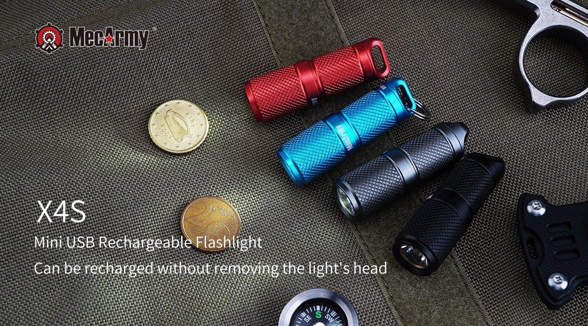 Amazon.com: MecArmy X4S mini linterna llavero LED CREE XP-G2 ...