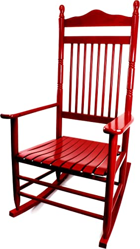 Editors' Choice: Dixie Seating Calabash Wood Rocking Chair No. 467SRTA Woodleaf Red