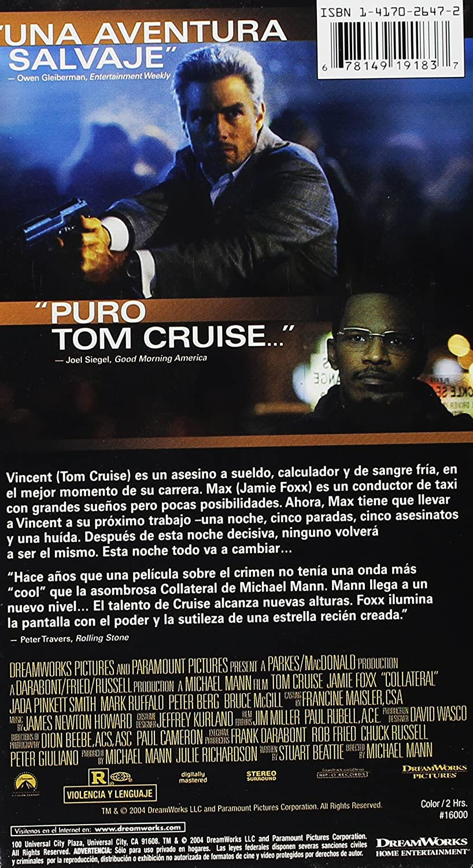 Collateral [USA] [VHS]: Amazon.es: Tom Cruise, Jamie Foxx ...
