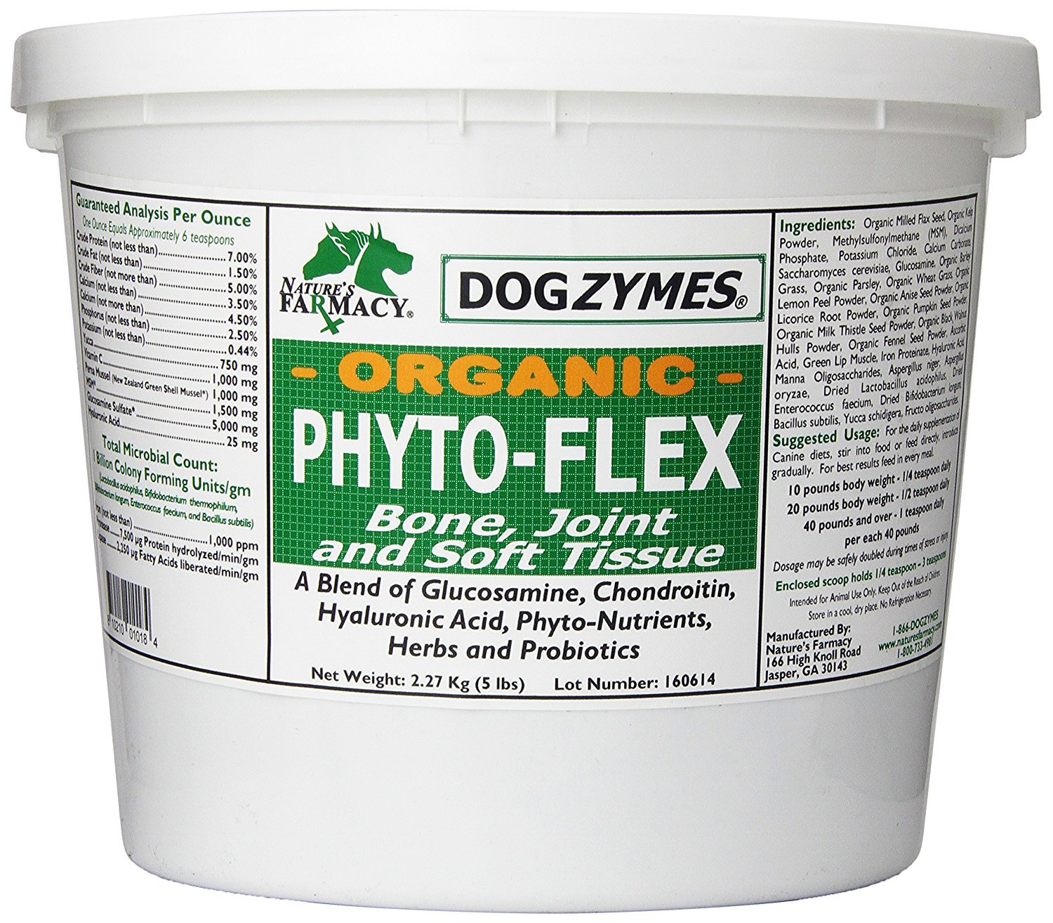 Dogzymes Phyto-Flex Bone/Joint/Soft Tissue Support, 5-Pound