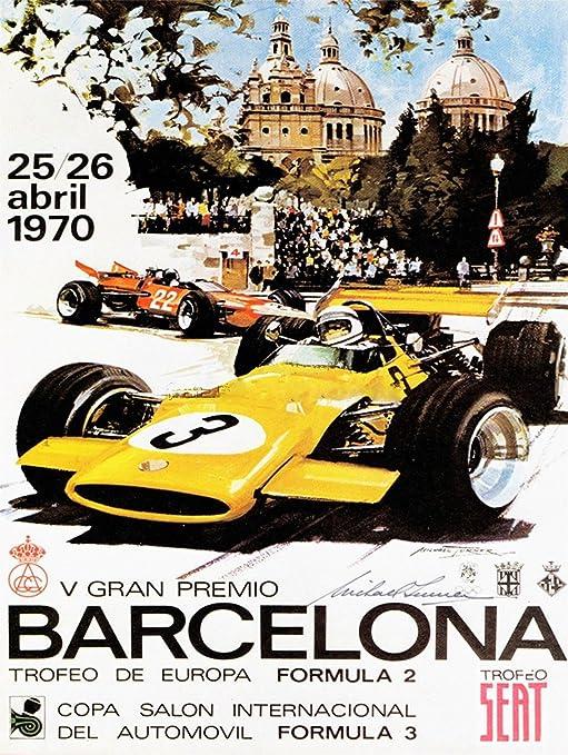 Vintage Ferrari Motor Racing  Poster A3//A4 Print