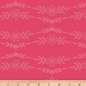 Art Gallery Meriwether Embroidered Garland Rose Quilt Fabric