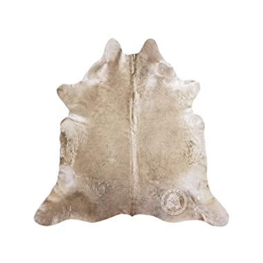 Sunshine Cowhides Taupe Cowhide Rug Approx Size 5ft x 7ft 150 cm x 210cm