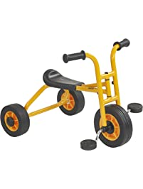 RABO My First Pedaling Trike (powered by ECR4Kids), Beginner Tricycle for Backyards & Schoolyards (Yellow/Black)