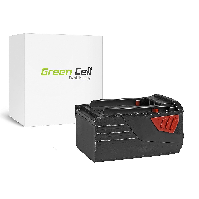 Li-Ion celdas 3Ah 36V Green Cell B36 Bater/ía de Herramienta El/éctrica para Hilti