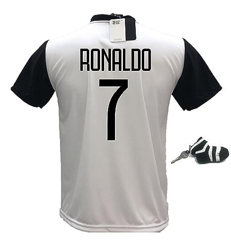 T-shirts Maglia T-shirt Cristiano Ronaldo Cr7 Juve Tshirt Uomo Bambino Tops & Tees