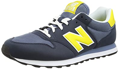 new balance hombre azul y amarillo