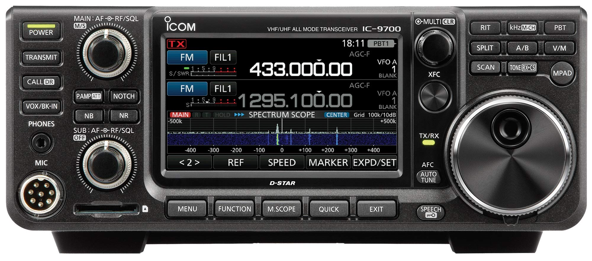 Icom IC-9700 VHF/UHF/1.2GHz D-STAR Base Station Transceiver by ICON (Image #1)