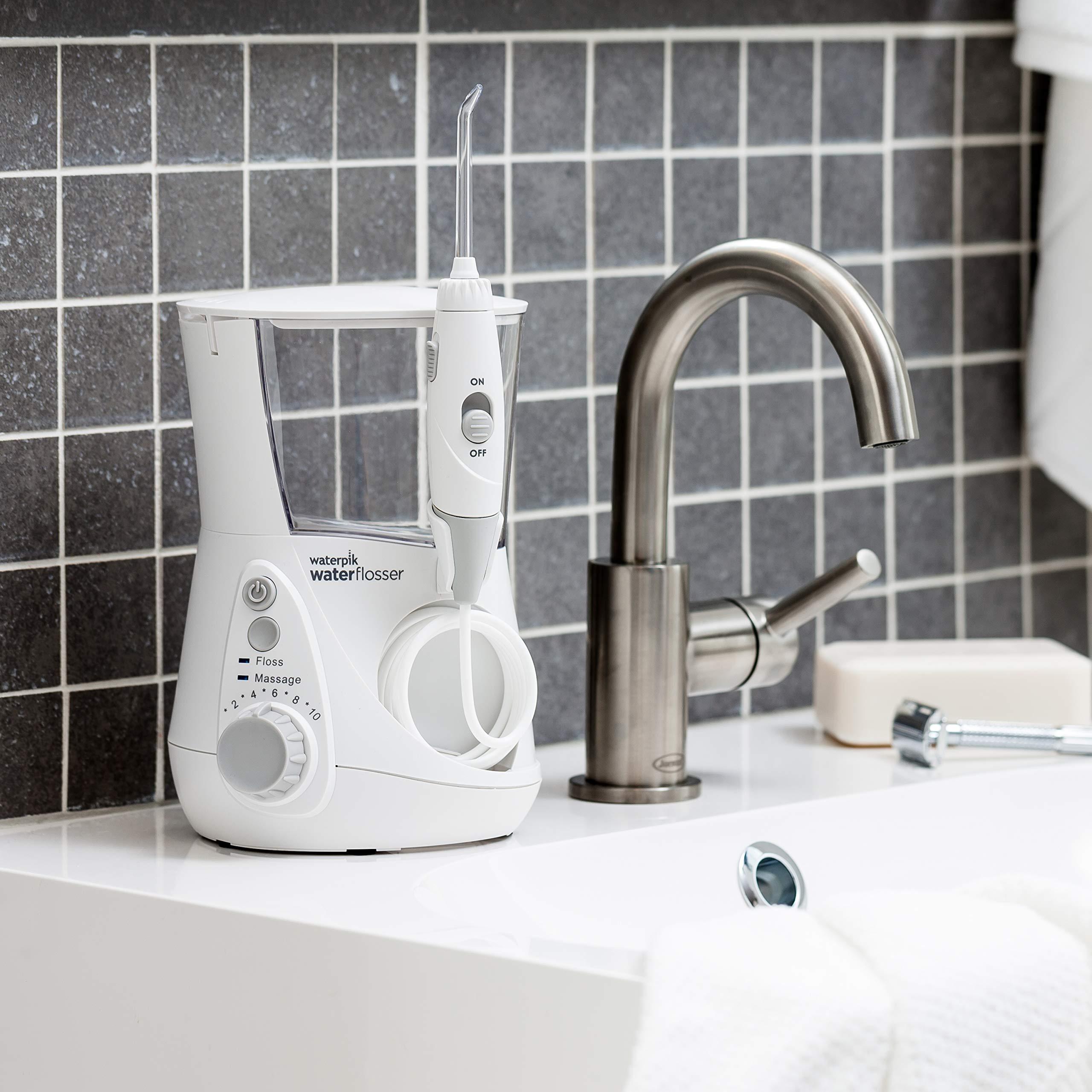Waterpik Water Flosser Electric Dental Countertop Oral Irrigator For Teeth – Aquarius Professional, WP-660 White by Waterpik (Image #11)
