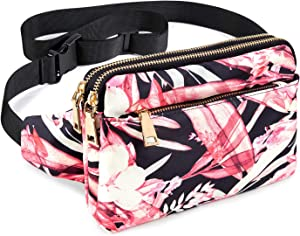 Fanny Packs for Women & Men, Waist Bag Fanny Pack for Girls Boys Teens with Multi-Pockets, Casual Hip Bum Bags Belt Bag for Travel Hiking Cycling Concert Festival Running Dog Walking ( Upgraded )