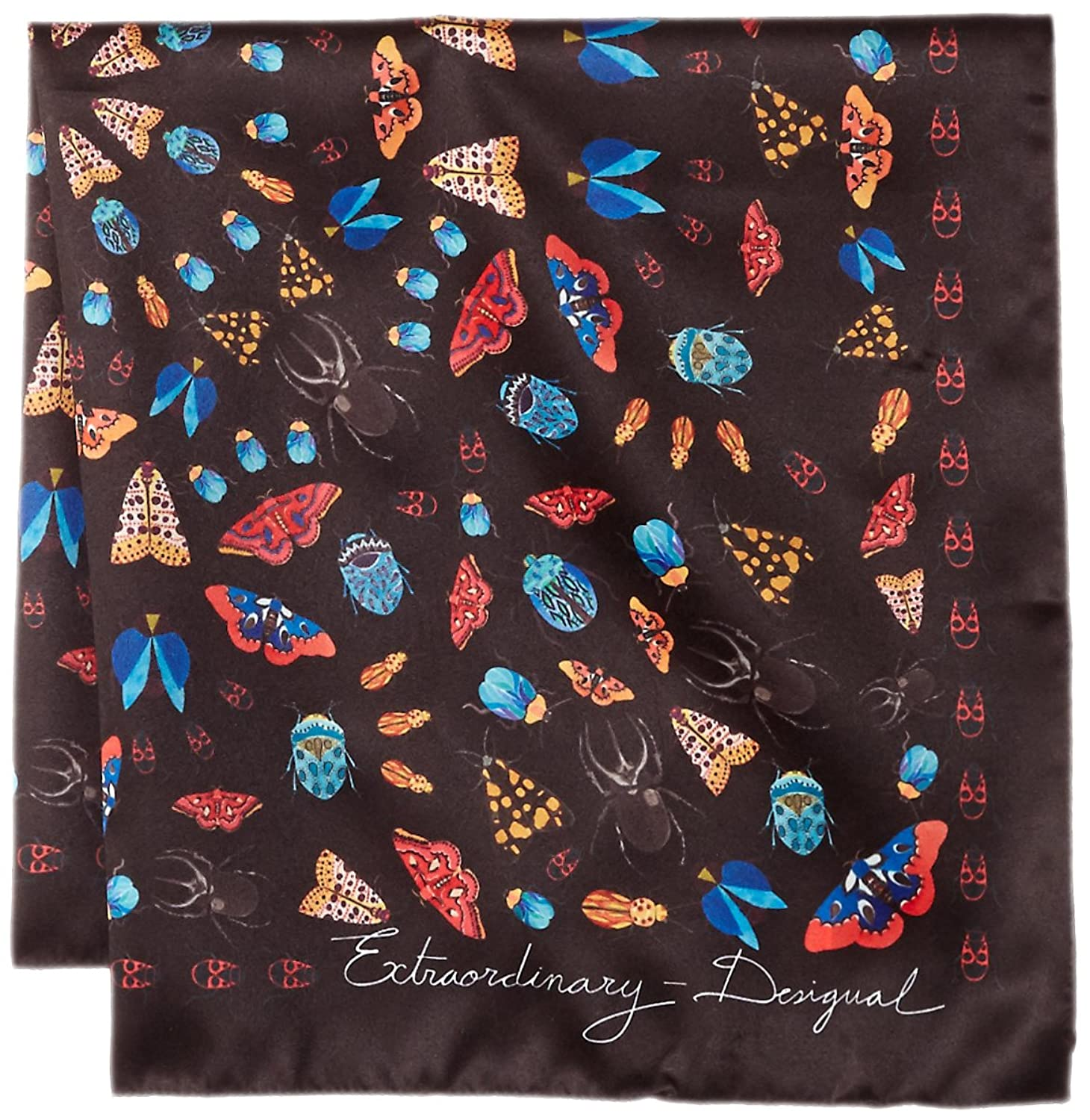 DESIGUAL PASHMINA WOMAN FOULARD WINTER FLORAL PEQ 17WAWFH6 black:  Amazon.co.uk: Clothing