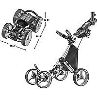 CaddyTek Explorer V8 - Superlite 4 Wheel Golf Push Cart, Explorer Version 8 (Renewed)