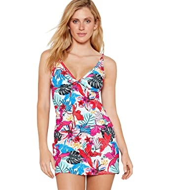 ee998168bd Beach Collection Womens Multi-Coloured Floral Print  Lily  Swim Dress 12