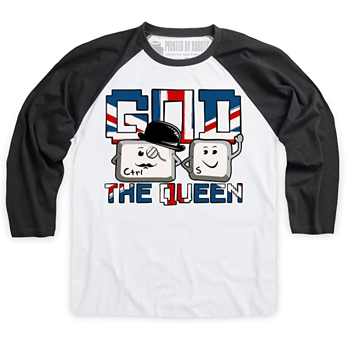 God Save The Queen Camiseta de béisbol, Para hombre: Amazon.es: Ropa y accesorios