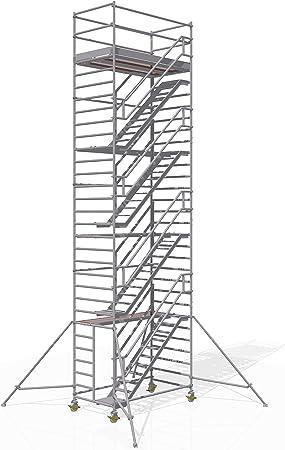 Altec - Torre de escaleras (2,5 x 1,3 m, 10,2 m): Amazon.es: Bricolaje y herramientas