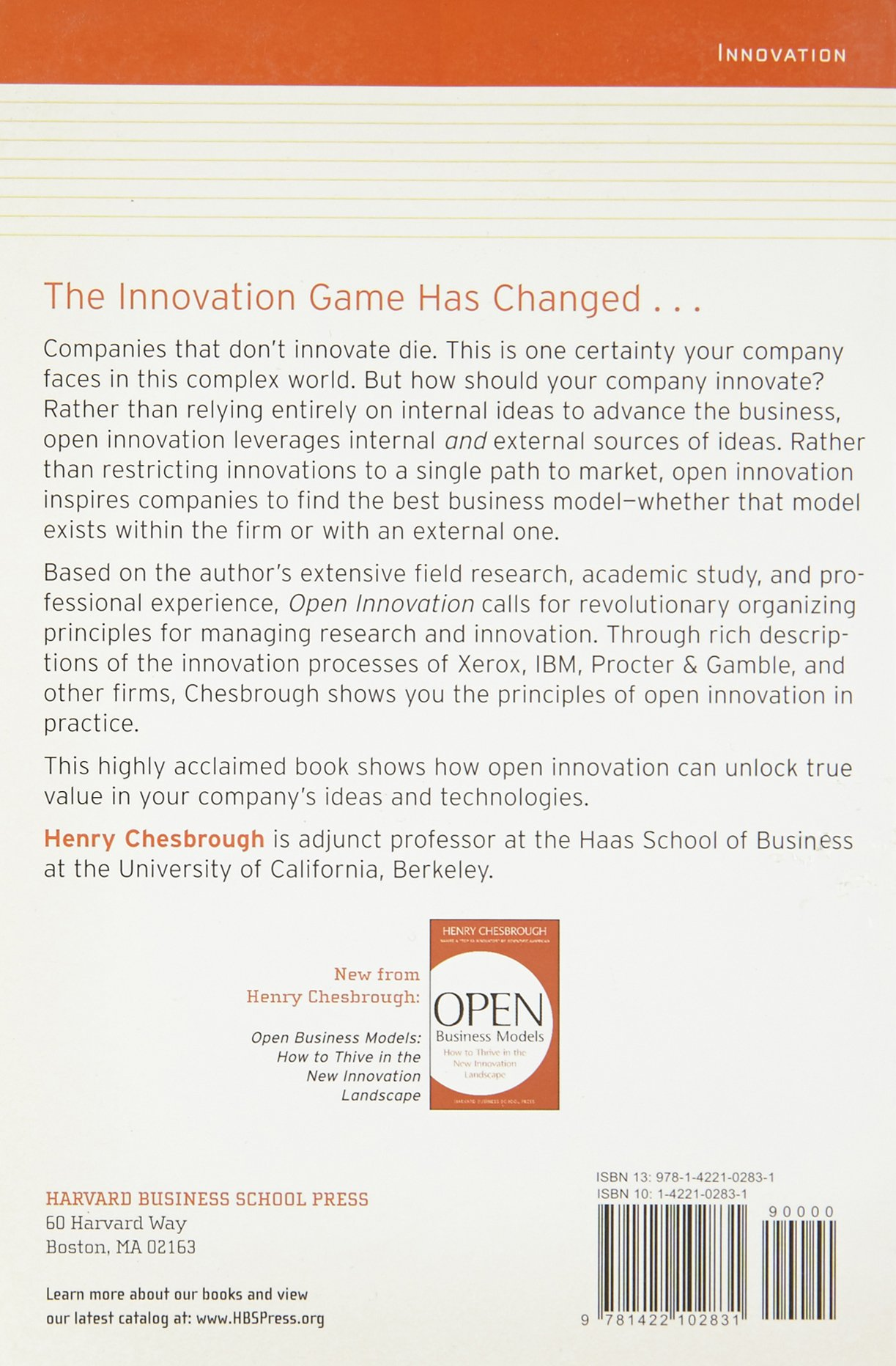 Open Innovation: The New Imperative for Creating and Profiting ...