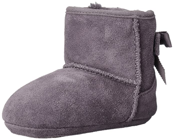 Amazon.com | UGG Kids Baby Girl's Jesse Grosgrain Bow (Infant/Toddler) Nightfall Boot XS (US 0-1 Infant) M | Boots