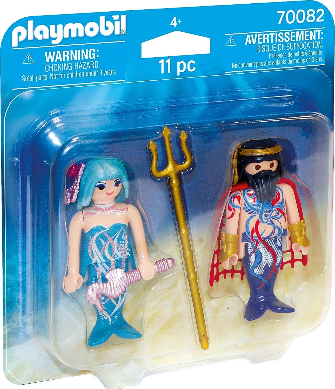 PLAYMOBIL- Duo Pack Playset de Figuras, Color carbón (70082)