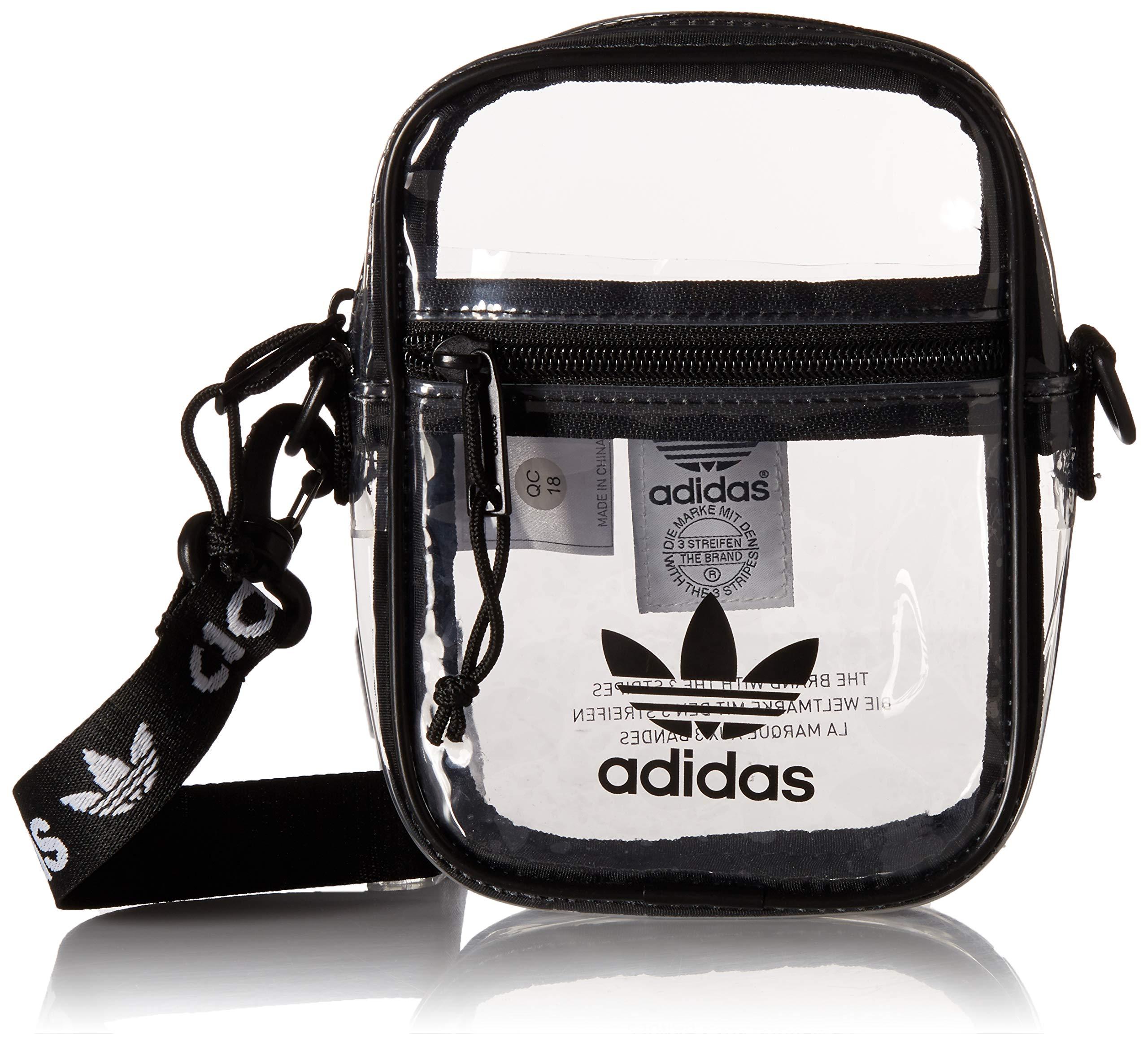 adidas Originals Originals Clear Festival Crossbody, Black, One Size