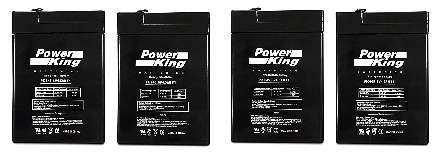 6V 4.5Ah General 00648 Sealed Non-Spillable Emergency Light Battery WKA6-5F - 4 Pack Beiter DC Power