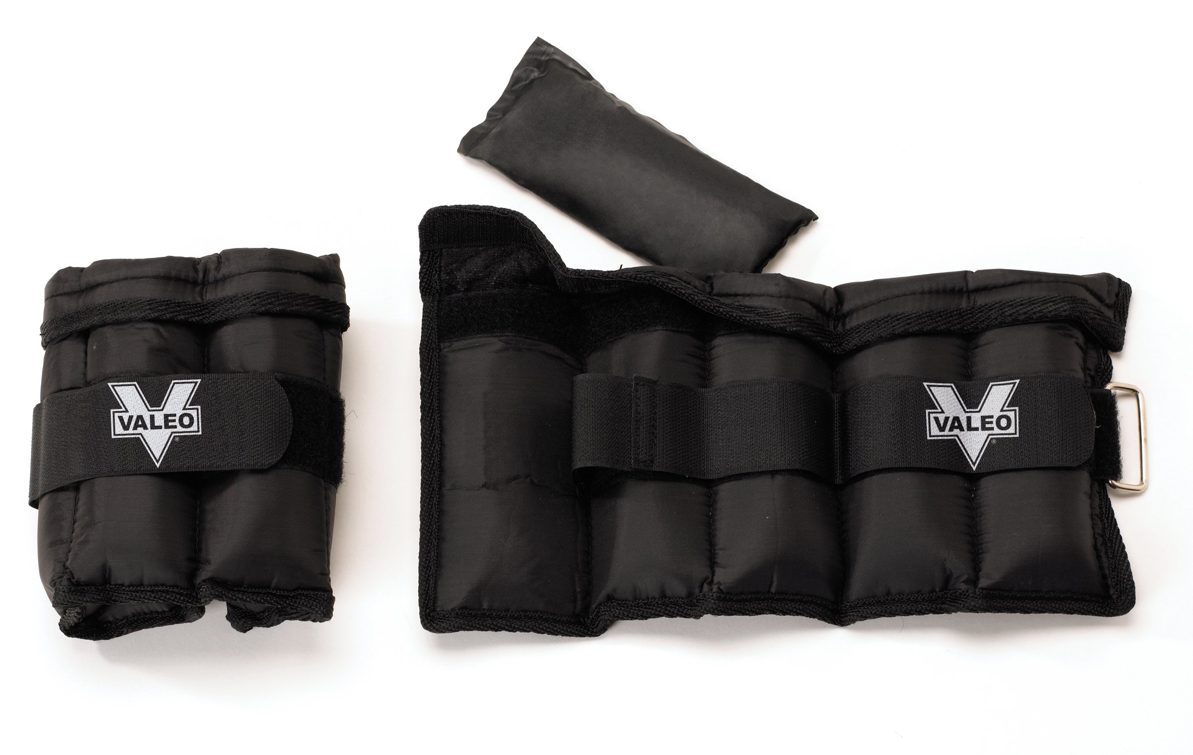 Valeo Adjustable Ankle/Wrist Weights - 5 lbs Total (2.5 lbs each), 1 Size Fits Most by Valeo