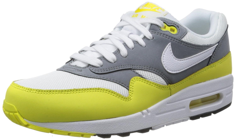 Nike Air Max 1 Essential 537383 Herren Laufschuhe  40.5 EU|Neongelb-Dunkelgrau-Wei?