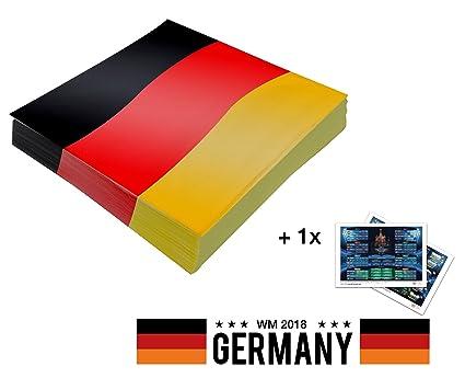 Dekoration Deutschland.Tk Gruppe Timo Klingler 20x Servietten Wm Deko Tischdeko