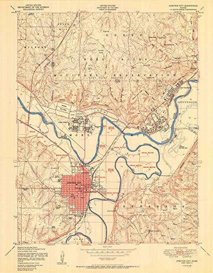 Junction City Kansas Map.Amazon Com Yellowmaps Junction City Ks Topo Map 1 24000 Scale