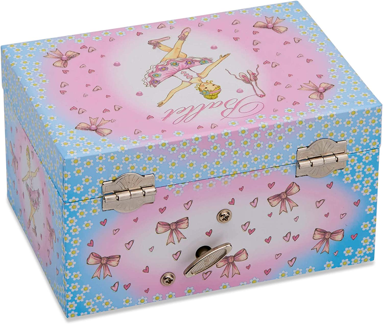 The Wiggles Pink Emma Ballerina Musical Jewellery Box Trinket Girls Toy