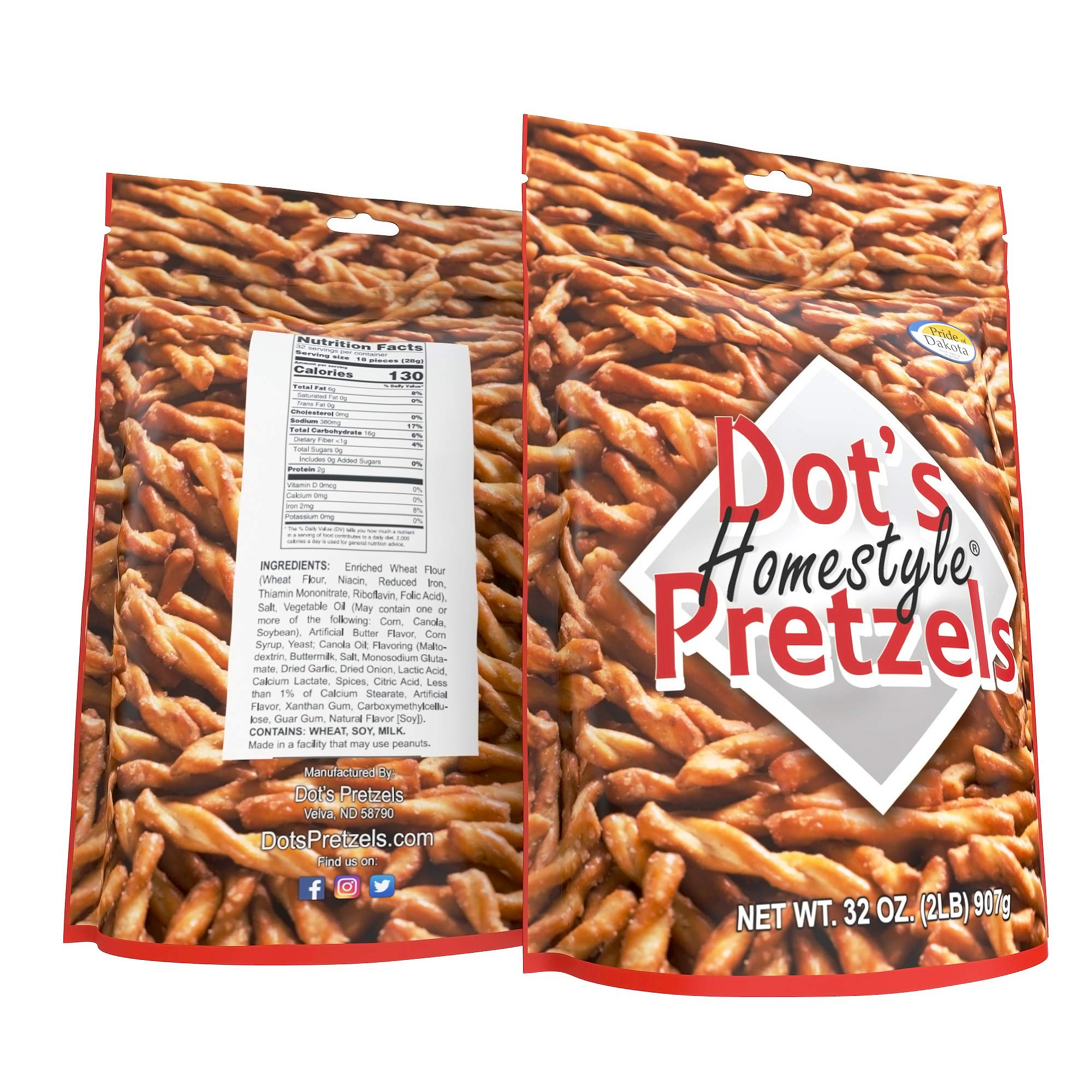 Dot's Homestyle Pretzels 2 lb. Bag (Single) 32 oz. Seasoned Pretzel Snack Sticks (Packaging May Vary) by Dot's Homestyle Pretzels (Image #7)