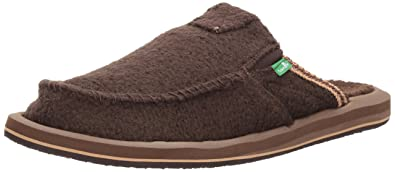 Sanuk Men's You Got My Back Chill Slip-On, Brown Wheat The Fuzz,