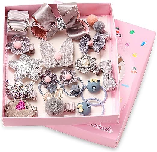 18pcs Gift Hair Clips Accessories Kids Children Girls Bow Card Hairpins