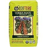 ECOTEAS Organic Unsmoked Yerba Mate Tea (Pure Loose Leaf) 1 pound
