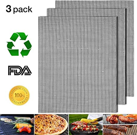 5 Pack Grill Mats 13 in x 16 in Non-Stick Barbecue /& Baking Sheet Liners BBQ Lot