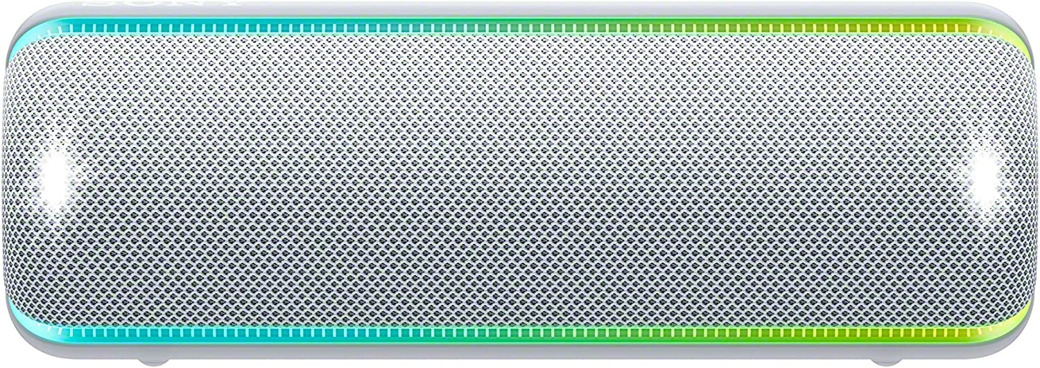 Sony SRS-XB32 Portable Bluetooth Speaker: Compact Wireless Party Speaker with Multicolor Lights and Flashing Strobe - Loud Audio for Phone Calls -Waterproof and Shockproof Bluetooth Speakers - Grey