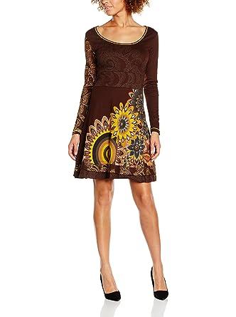 Robe Vest Courte Mandalas Marron S Femme Desigual 49v2101 zTwqxf