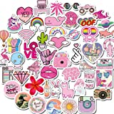 VSCO Stickers for Hydro Flask, Girls Stuff Cute Waterproof Trendy Stickers for Water Bottles, Laptops, Phones,Travel Extra Durable 100% Vinyl(50 Pack)